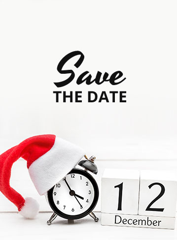 Save the date: 12 december