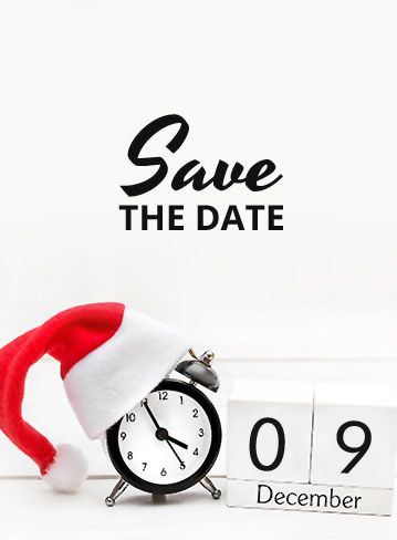 Save the date: 10 december